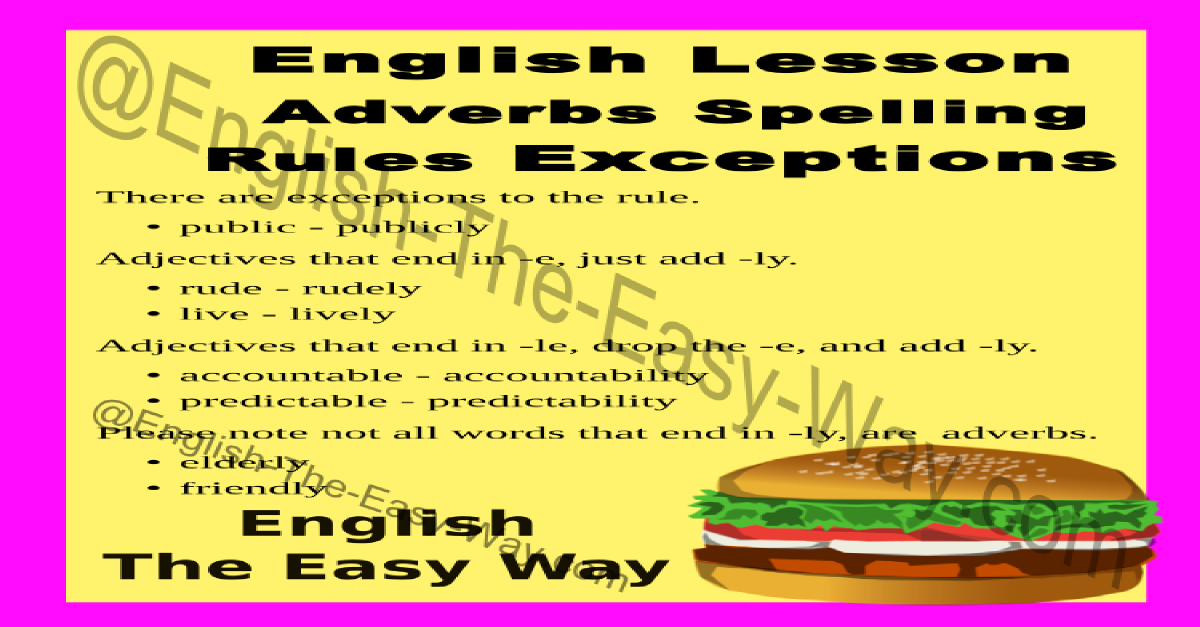 adverb spelling rules - english grammar