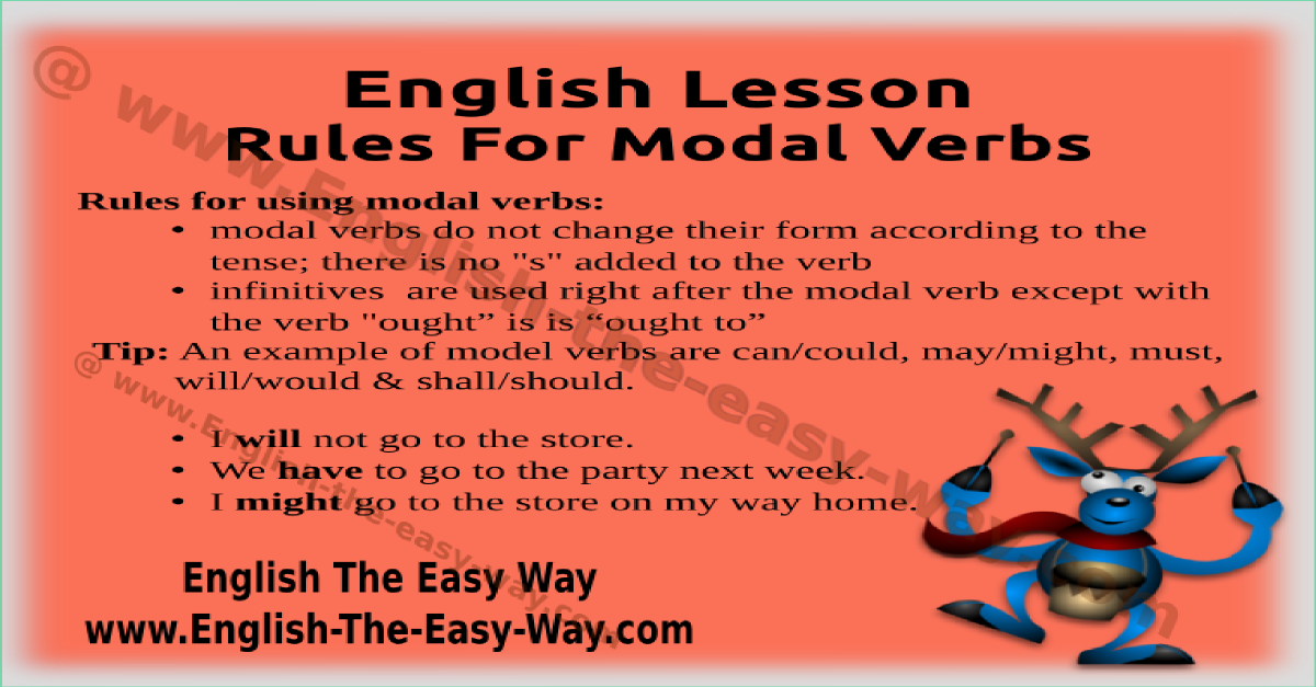 rules for rules for modal verbs