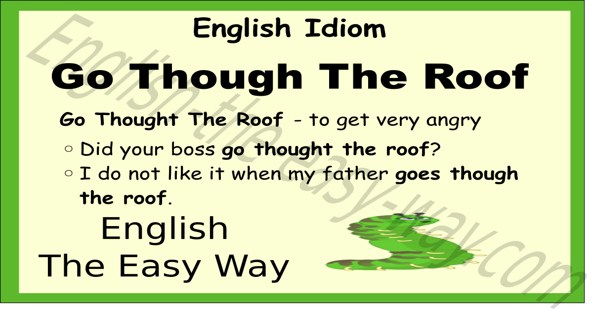 Roof Idioms Amp English Idioms And Metaphors About