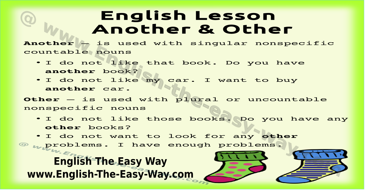 Another - Other - The Other   Confusing English Words   English The Easy Way