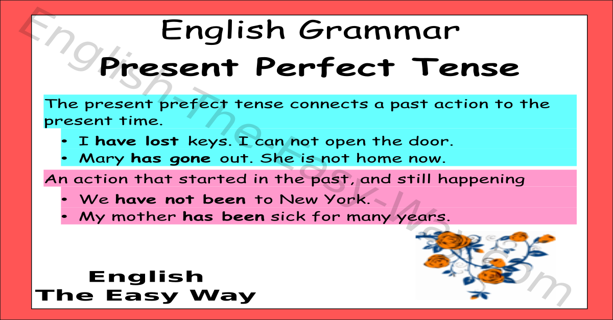 present perfect tense - english grammar