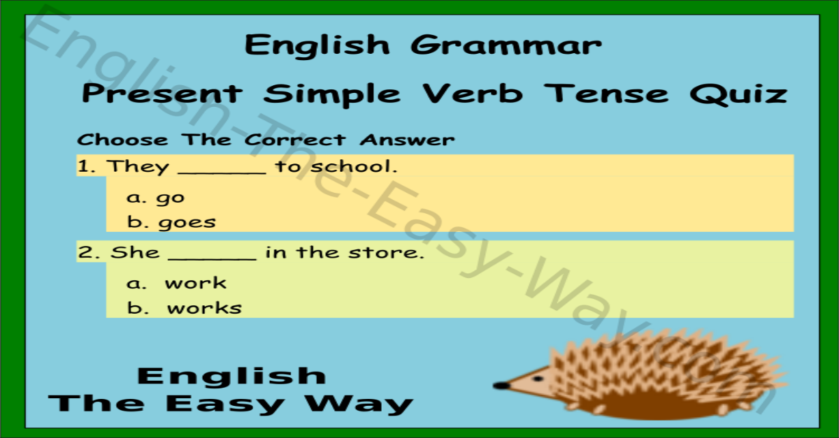 General English Grammar Questions Answers
