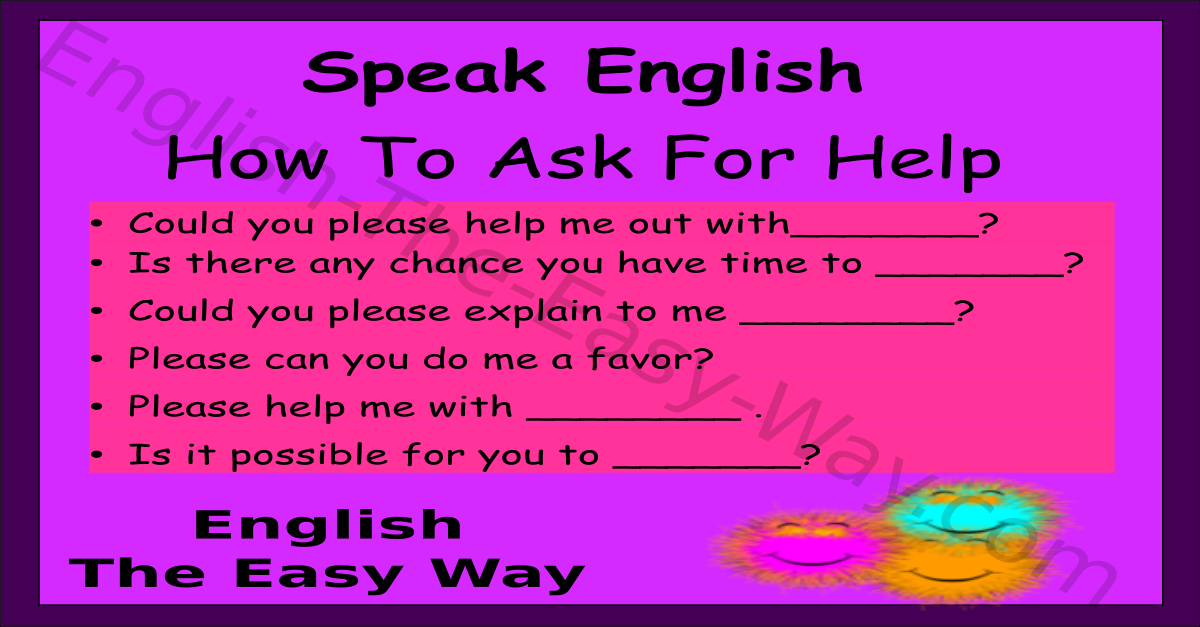 ways to ask for help speaking english english the easy way
